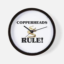 Copperheads Rule! Wall Clock