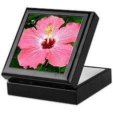 Unique Pink flower Keepsake Box