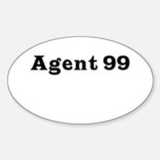Agent 99 Oval Decal