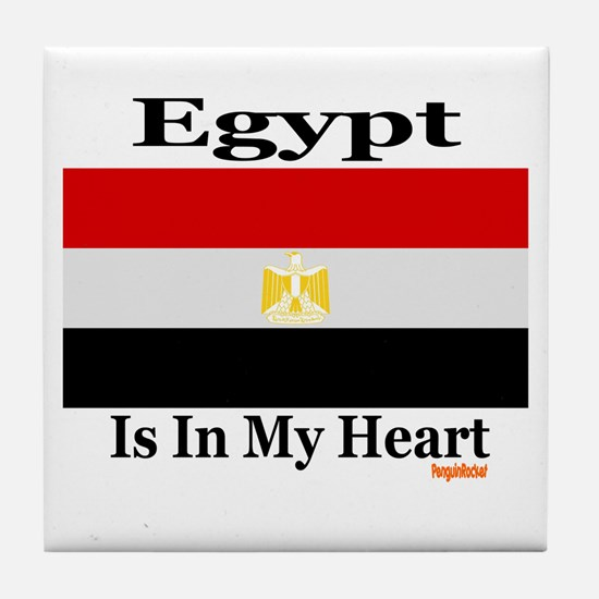Egypt - Heart Tile Coaster