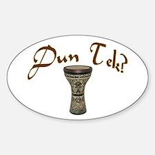 Dun Tec? Doumbek Oval Stickers