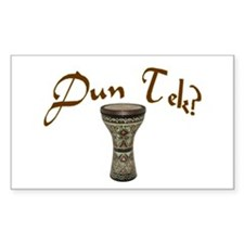 Dun Tec? Doumbek Rectangle Stickers