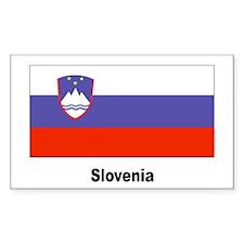 Slovenia Slovenian Flag Rectangle Decal