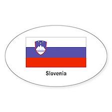 Slovenia Slovenian Flag Oval Decal