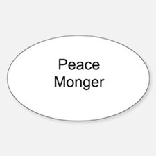 Peace Monger Oval Decal