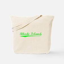 Vintage Rhode Island (Green) Tote Bag