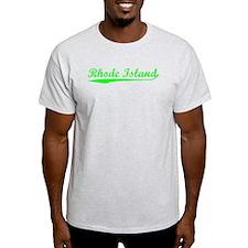 Vintage Rhode Island (Green) T-Shirt
