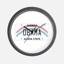 Hawaii Supports Obama Wall Clock