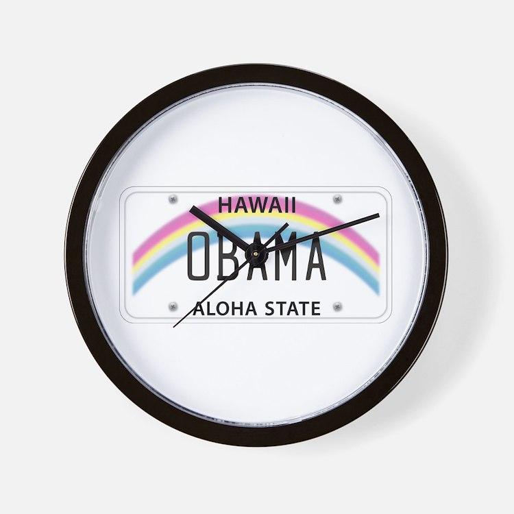Hawaii Supports Obama Wall Clock