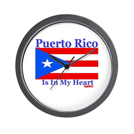 Puerto Rico - Heart Wall Clock