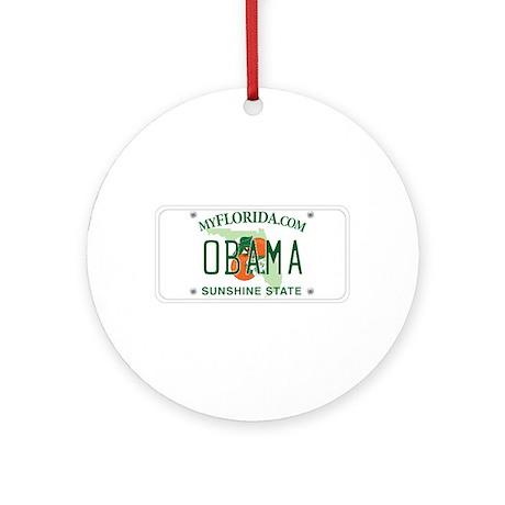 Florida Supports Obama Ornament (Round)