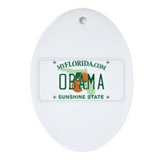 Florida Supports Obama Oval Ornament