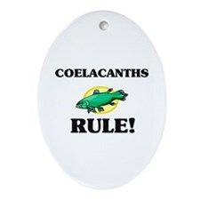 Coelacanths Rule! Oval Ornament