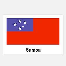 Samoa Samoan Flag Postcards (Package of 8)