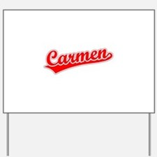 Retro Carmen (Red) Yard Sign