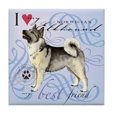 Norwegian Elkhound Tile Coaster