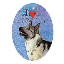 Norwegian Elkhound Oval Ornament