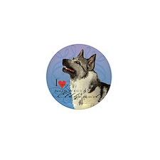 Norwegian Elkhound Mini Button