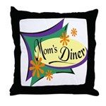 Mom's Diner Throw Pillow