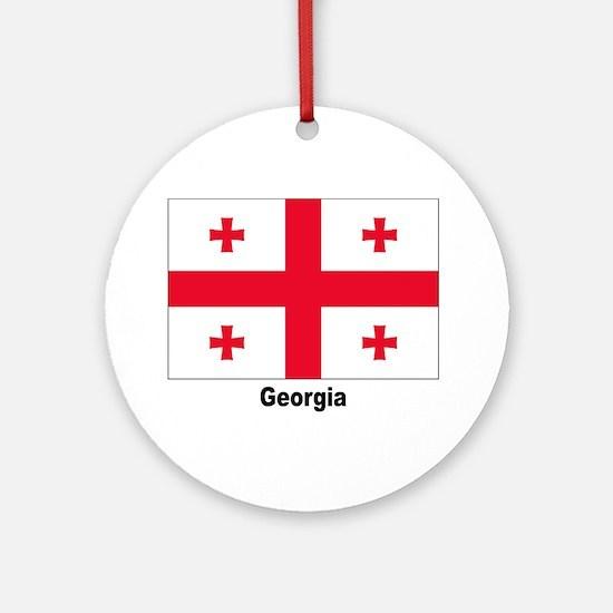 Georgia Flag Keepsake (Round)