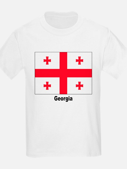 Georgia Flag (Front) Kids T-Shirt