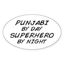 Punjabi Superhero by Night Oval Decal