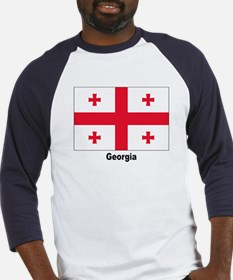 Georgia Flag (Front) Baseball Jersey