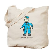 Daddy's a Policeman Tote Bag