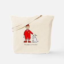 Daddy's a Fireman Tote Bag