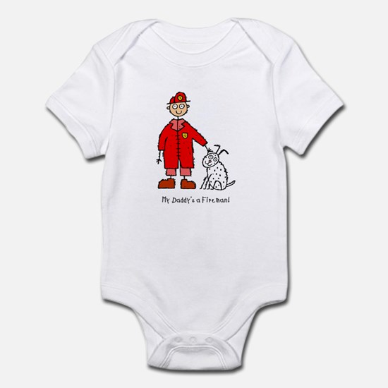 Daddy's a Fireman Infant Bodysuit
