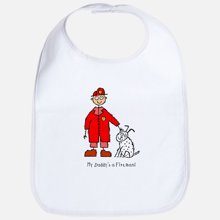 Daddy's a Fireman Bib