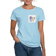 Baby Initials - V Women's Pink T-Shirt