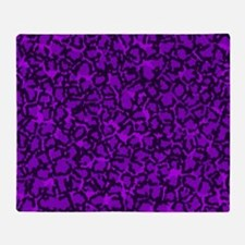 Purple Cat SPots Throw Blanket