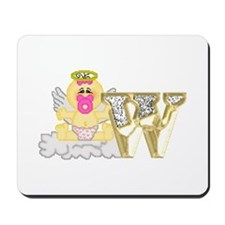 Baby Initials - W Mousepad