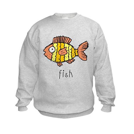 Funny Fish Kids Sweatshirt