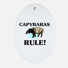 Capybaras Rule! Oval Ornament