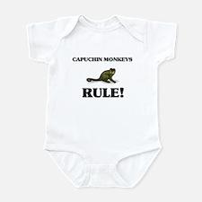 Capuchin Monkeys Rule! Infant Bodysuit