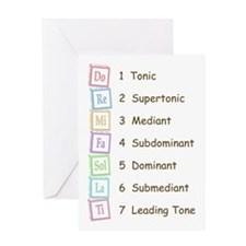 Tones of the Scale Greeting Card