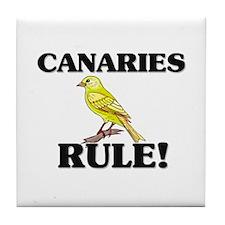 Canaries Rule! Tile Coaster