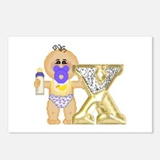Baby Initials - X Postcards (Package of 8)