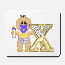 Baby Initials - X Mousepad
