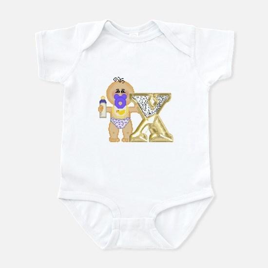 Baby Initials - X Infant Creeper