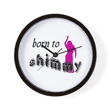 Born to Shimmy Wall Clock