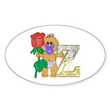 Baby Initials - Z Oval Decal