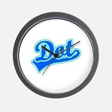 Retro Dot (Blue) Wall Clock