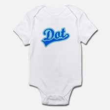 Retro Dot (Blue) Infant Bodysuit