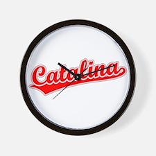 Retro Catalina (Red) Wall Clock