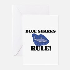 Blue Sharks Rule! Greeting Cards (Pk of 10)