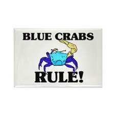 Blue Crabs Rule! Rectangle Magnet