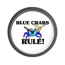 Blue Crabs Rule! Wall Clock